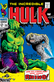 Marvel Comics Retro: The Incredible Hulk Comic Book Cover No.104, with the Rhino Posters
