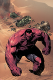 Hulk No.42 Cover: Red Hulk Walking up a Dune Photo by Patrick Zircher