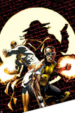 Power Man and Iron Fist No.2 Cover: Power Man and Iron Fist Crouching Prints by Mike Perkins