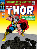 Marvel Comics Retro: The Mighty Thor Comic Book Cover No.125, Journey into Mystery Poster