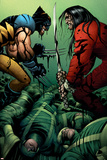 Wolverine No.31 Cover: Wolverine and Gorgon Poster by John Romita Jr.