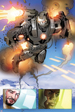 Invincible Iron Man No.513: Panels with War Machine and Iron Man Poster by Salvador Larroca