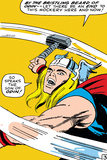 Marvel Comics Retro: Mighty Thor Comic Panel, Swinging Hammer Prints
