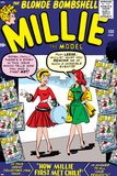 Marvel Comics Retro: Millie the Model Comic Book Cover No.100, How Millie First Met Chili! Prints