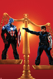 Captain America No.615 Cover: Captain America and Winter Soldier on Opposing Sides of a Scale Prints by Marko Djurdjevic