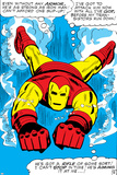 Marvel Comics Retro: The Invincible Iron Man Comic Panel, Swimming Poster