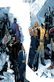 X-Men: Regenesis No.1 Cover: Professor X, Storm, Cyclops, Iceman, Wolverine, Magneto and Others Bilder av Chris Bachalo