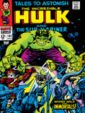 Marvel Comics Retro: The Incredible Hulk Comic Book Cover No.101, with the Sub-Mariner Poster