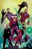 Avengers No.8 Cover: Medusa, Professor X, Dr. Strange, Mr. Fantastic, and Iron Man Planscher av John Romita Jr.