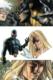 Wolverine No.55 Headshot: Cyclops, Wolverine and Emma Frost Prints by Simone Bianchi