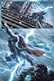 New Mutants No.25: Thor Flying in a Lightning Storm Poster by Leandro Fernandez