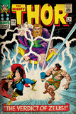 Marvel Comics Retro: The Mighty Thor Comic Book Cover No.129, The Verdict of Zeus, Hercules (aged) Poster