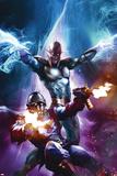 The Thanos Imperative No.6 Cover: Star-Lord and Nova Shooting Plakaty autor Aleksi Briclot