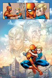 Fantastic Four No.588: Panels with Spider-Man Taking Care of Franklin Richards Poster by Nick Dragotta