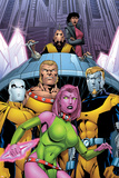 Exiles No.66 Cover: Blink, Sabretooth, Mimic, Morph and Exiles Prints by James Calafiore