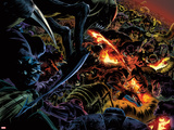 Fantastic Four No.587: Human Torch Trapped and Fighting Prints by Steve Epting