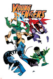 Young Avengers 5 Cover: Loki, Bishop, Kate, Noh-Varr, Wiccan, Hulkling, Ms. America Posters by Jamie McKelvie