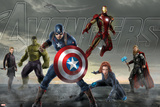 Thor, Hulk, Captain America, Hawkeye, Black Widow, and Iron Man from The Avengers: Age of Ultron Plakaty