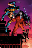Wolverine No.30 Cover: Wolverine and Gorgon Prints by John Romita Jr.
