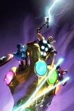Ultimate Comics Ultimates 25 Cover: Captain America, Thor, Iron Man Affiche par Michael Komarck