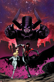 Cataclysm: Ultimate Spider-Man 1 Cover: Spider-Man, Galactus, Dagger, Cloak Prints by Dave Marquez