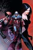 Avengers 10 Cover: Captain America, Wolverine, Validator, Michaud, Robert Posters by Dustin Weaver