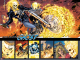 Ghost Rider No.0.1: Panels with Ghost Rider Flaming and Riding a Motorcycle Posters by Matthew Clark