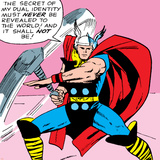 Marvel Comics Retro: Mighty Thor Comic Panel Kunstdruck