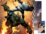 Ultimate Spider-Man No.157: Panels with Green Goblin Fighting and Flaming Print by Mark Bagley