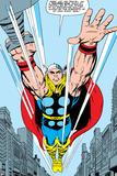 Marvel Comics Retro: Mighty Thor Comic Panel, Flying Posters