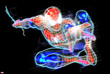 Spider-Man Neon Badge: Spider-Man Posing Prints