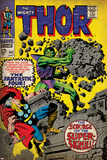 Marvel Comics Retro: The Mighty Thor Comic Book Cover No.142, Scourge of the Super Skrull! (aged) Prints