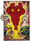 Marvel Comics Retro: Fantastic Four Comic Panel, Thing, Mr. Fantastic, Human Torch (aged) Poster