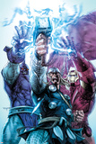 Iron Man/Thor No.4 Cover: Thor, Iron Man, and High Evolutionary Combining Energy Forces Photo by Stephen Segovia