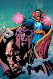 Excalibur No.13 Cover: Dr. Strange, Magneto and Professor X Prints by Aaron Lopresti