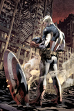 Ultimate Fallout No.6 Cover: Captain America Standing, Looking at his Shield Prints by Bryan Hitch