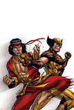 Wolverine: First Class No.9 Cover: Wolverine and Shang-Chi Prints by Salvador Espin