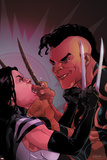 X-23 No.9: X-23 and Daken Fighting Prints by Kalman Andrasofszky