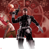 Secret Warriors No.25 Cover: Nick Fury Standing with a Gun Prints by Paul Renaud