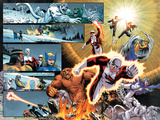 Chaos War: Alpha Flight No.1: Guardian, Sasquatch, Shaman, Northstar, Aurora, Marina, & Vindicator Prints by Reilly Brown