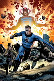 Fantastic Four No.586: Mr. Fantastic and Galactus Running Posters by Steve Epting