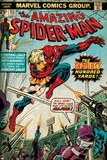 Marvel Comics Retro: The Amazing Spider-Man Comic Book Cover No.153 (aged) Plakater
