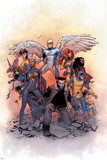 X-Men: Gold 1 Cover: Lockheed, Shadowcat, Storm, Angel, Grey, Jean, Bishop, Cyclops, Jubilee Prints by Olivier Coipel