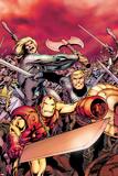 Avengers Prime No.5 Cover: Iron Man, Thor, and Steve Rogers Charging Poster par Alan Davis