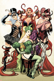 Women of Marvel No.1 Cover: Enchantress, Black Cat, Medusa, and Satana Posing Prints by Sara Pichelli
