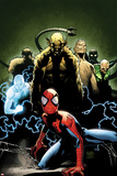 Ultimate Spider-Man No.155 Cover: Spider-Man, Green Goblin, Sandman, Electro, and Vulture Print by Olivier Coipel