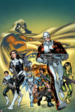 Alpha Flight No.5 Cover: Guardian, Aurora, Northstar, Puck, Snowbird, Sasquatch, Shaman, Marina Prints by Carlo Pagulayan