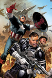 Secret Warriors No.18: Nick Fury, Captain America, Dum Dum Dugan Prints by Jim Cheung