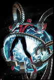 The Amazing Spider-Man No.682 Cover: Spider-Man Trapped in Mechanical Tentacles Poster by Stefano Caselli
