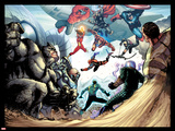 The Amazing Spider-Man No.683: Rhino, Red Hulk, Spider Woman, Thor, Sandman and Others Prints by Stefano Caselli